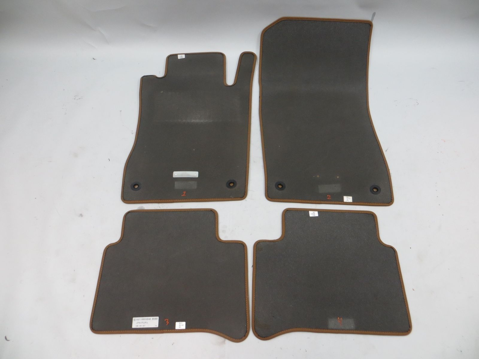 2007 2009 mercedes e350 e320 e550 floor mats carpet w211 for Mercedes benz e350 floor mats