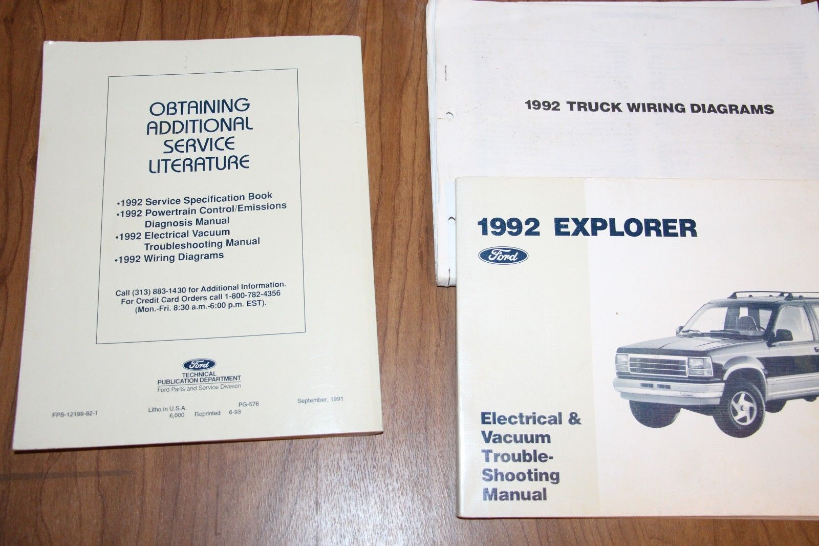 Set 3 Books 1992 Ford Ranger Explorer Aerostar Service Manual Wiring 99 Diagram Electrical