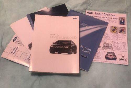 2007 FORD FIVE HUNDRED OWNERS MANUAL SET WITH CLOTH CASE