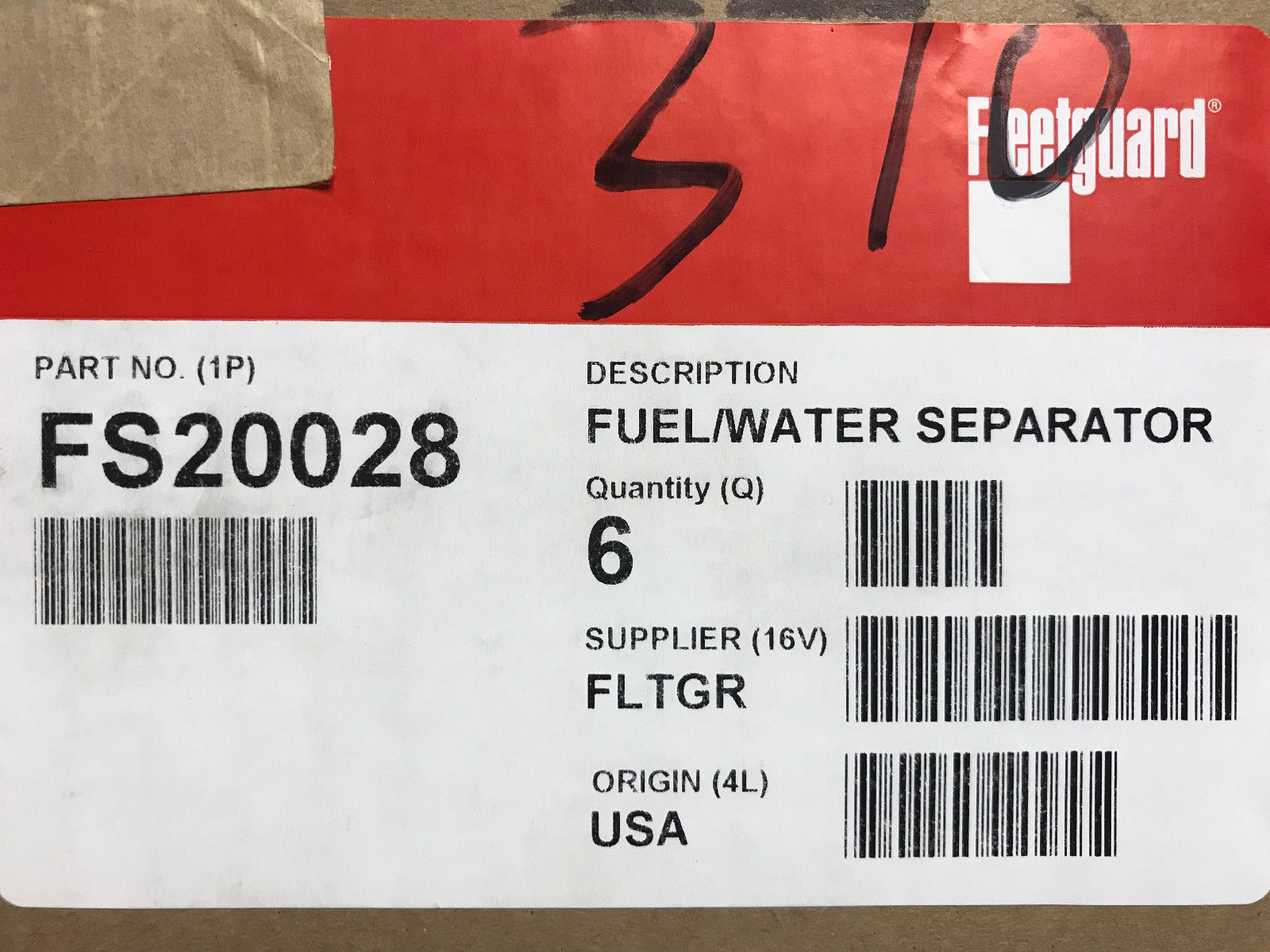 Mercedes Fuel Filter 2000 E320 Case Of 6 Fs20028 Fleetguard Emfuel Em