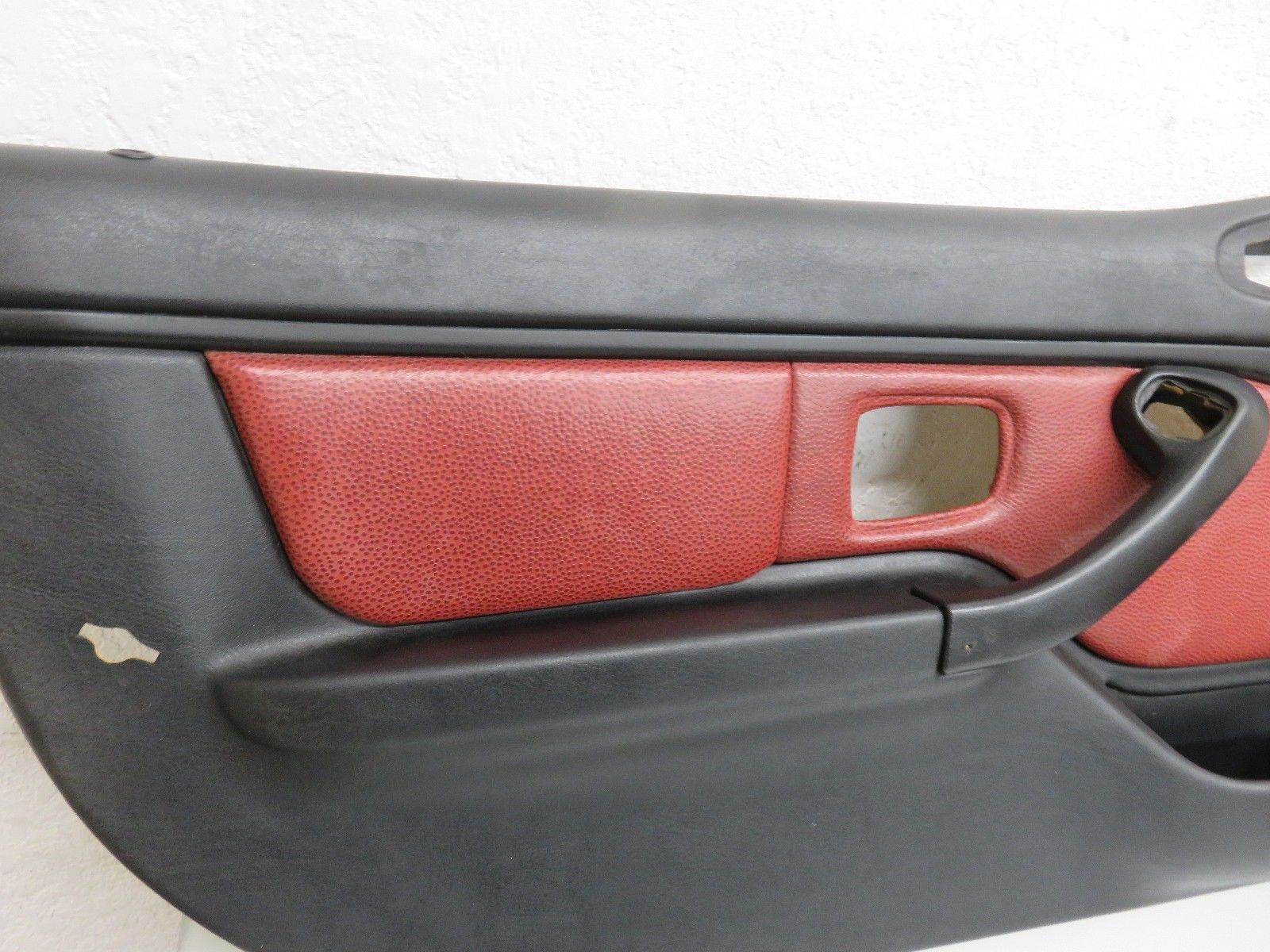 99 Bmw Z3 Right Left Driver Passenger Interior Door Panel Red Black Nice Oem Door Panel Cover