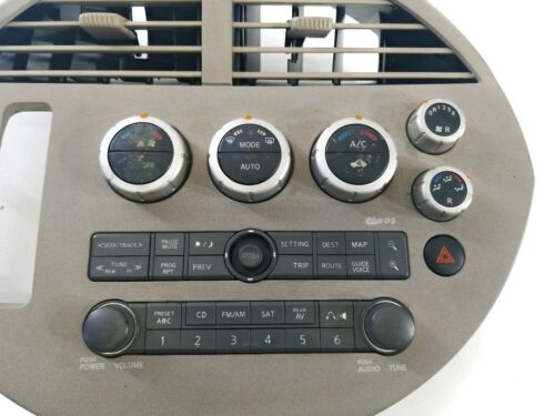 ? 2004-2006 Nissan Quest CD Radio Player AC Climate Control Bezel Dash Panel OEM 68260-ZF000 27500-5Z210
