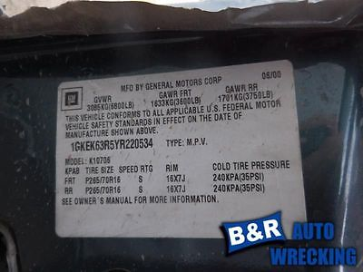 94 95 98 99 CHEVY 1500 PICKUP STARTER MOTOR 5.0L OR 5.7L ONLY 8989019 8989019