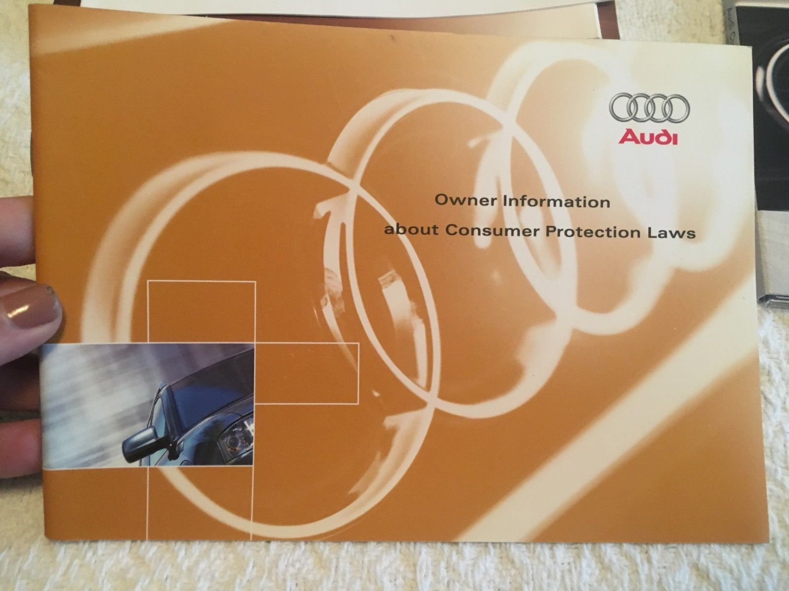 2004 Audi A4 Avant Factory Owner's User Manual Set Including CD-ROM