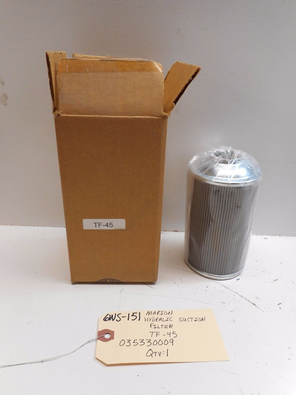 MARION HYDRAULIC SUCTION FILTER 035330009 TF-45 *FREE SHIPPING*