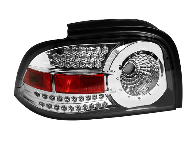 depo 96 98 ford mustang altezza tail lights euro chrome style w. Black Bedroom Furniture Sets. Home Design Ideas