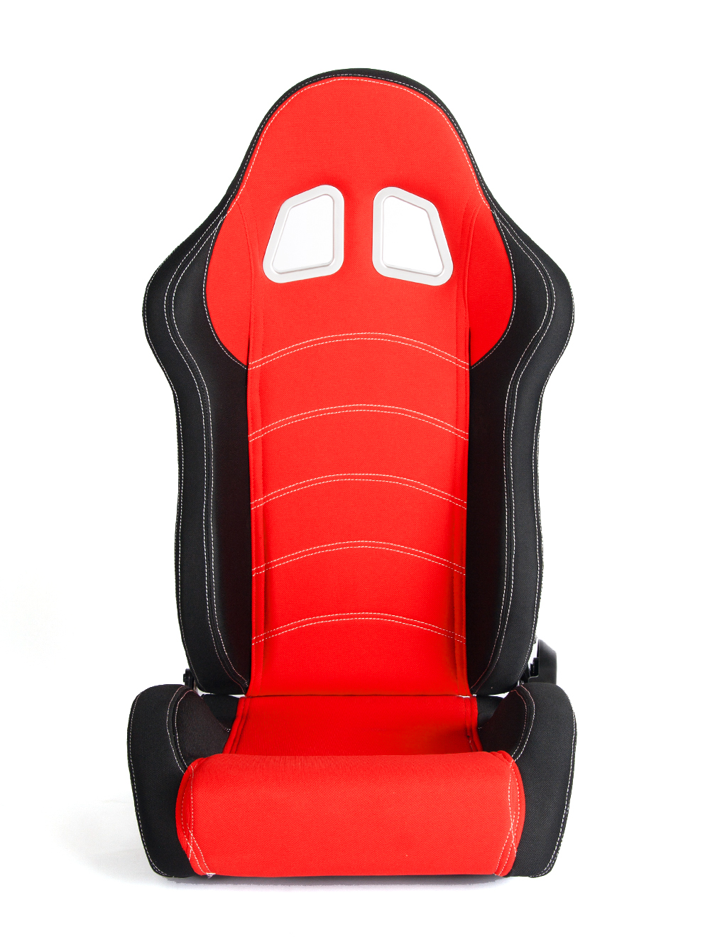 CPA1018 Black and Red Cloth Racing Seats (PAIR)
