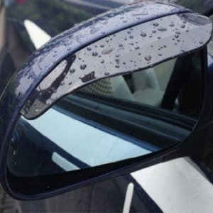 Black Universal <em>Car</em> Mirror Rain Sun Visor For <em>Chrysler</em> Daytona 300M Concorde Voyager Pacifica