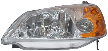 headlight head lamp 01 02 03 honda civic 2dr left. Black Bedroom Furniture Sets. Home Design Ideas