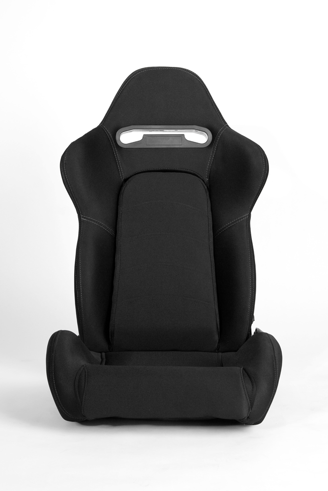 CPA1019 Black Cloth with Outer Gray Stitching Universal Racing Seats (PAIR)
