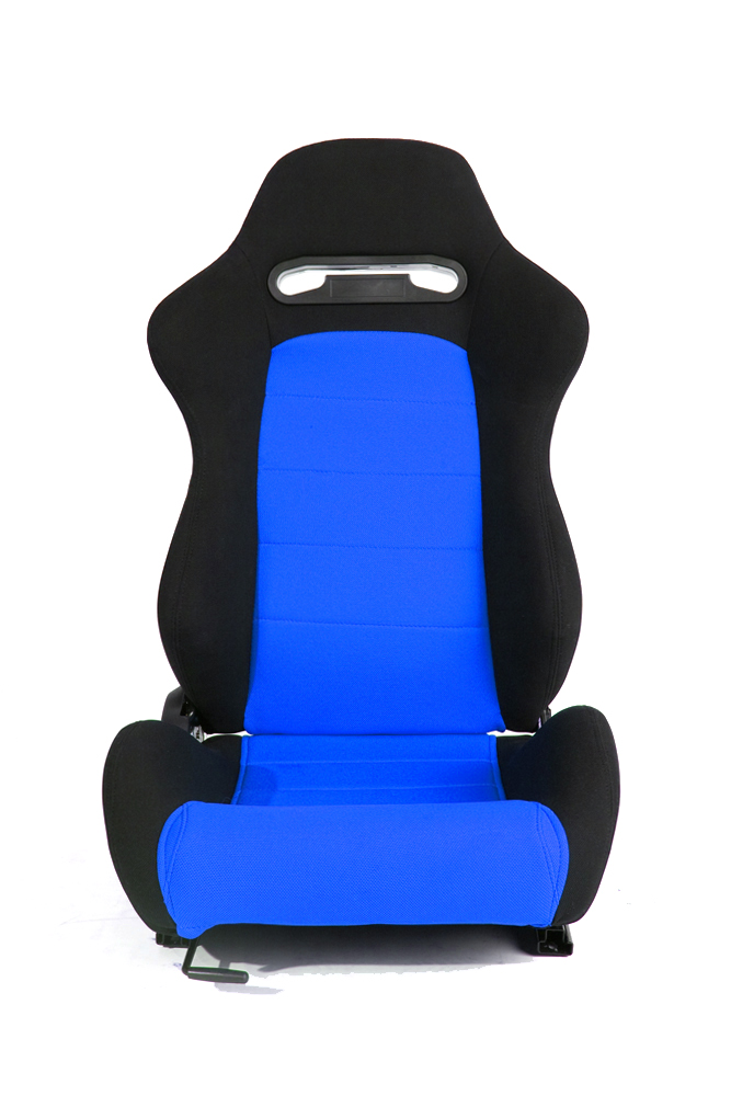 CPA1013 Black and Blue Cloth Racing Seats (PAIR)