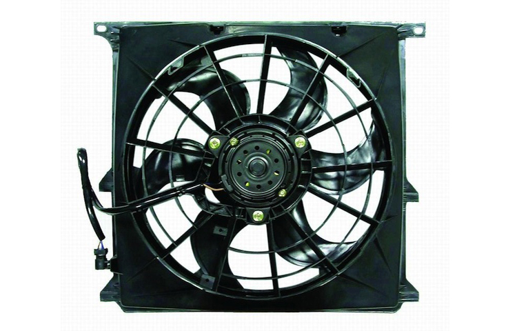 96-99 BMW E36 3-SERIES: 318ti / 96-99 BMW E36 M-SERIES: M3 AC CONDENSER COOLING FAN- ASY