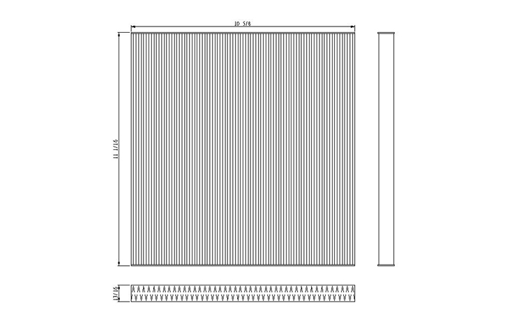 09-09 NISSAN MURANO (V6) CABIN AIR FILTER (W/ PARTICULATE TYPE FILTER)
