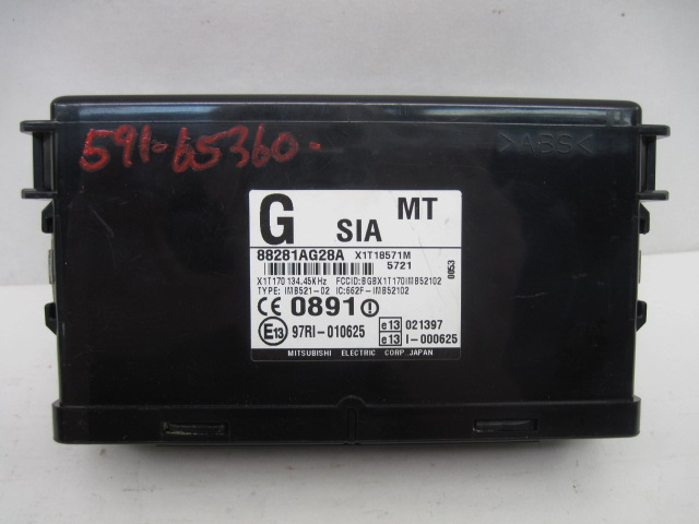 <em>Integrated</em> <em>Control</em> Computer Subaru Legacy 2006 06 2007 07 Manual