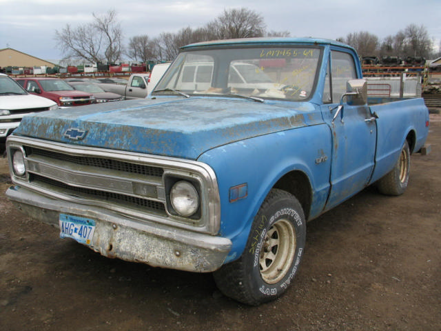 1969 Chevy 10 Pickup Manual Transmission 2wd 19964293