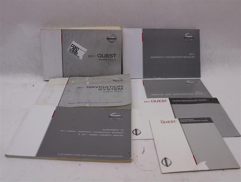 OWNERS MANUAL Nissan Quest 2011 11 874074