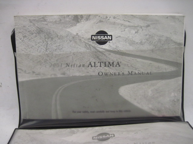 OWNERS MANUAL Nissan Altima 2001 01 850677