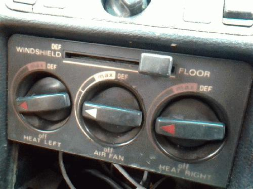 Mercedes-Benz 240D <em>1979</em> Temperature Control
