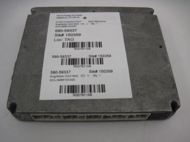 ECU ECM COMPUTER Sequoia 2002 02 4x4 ECU 896610C420 791198
