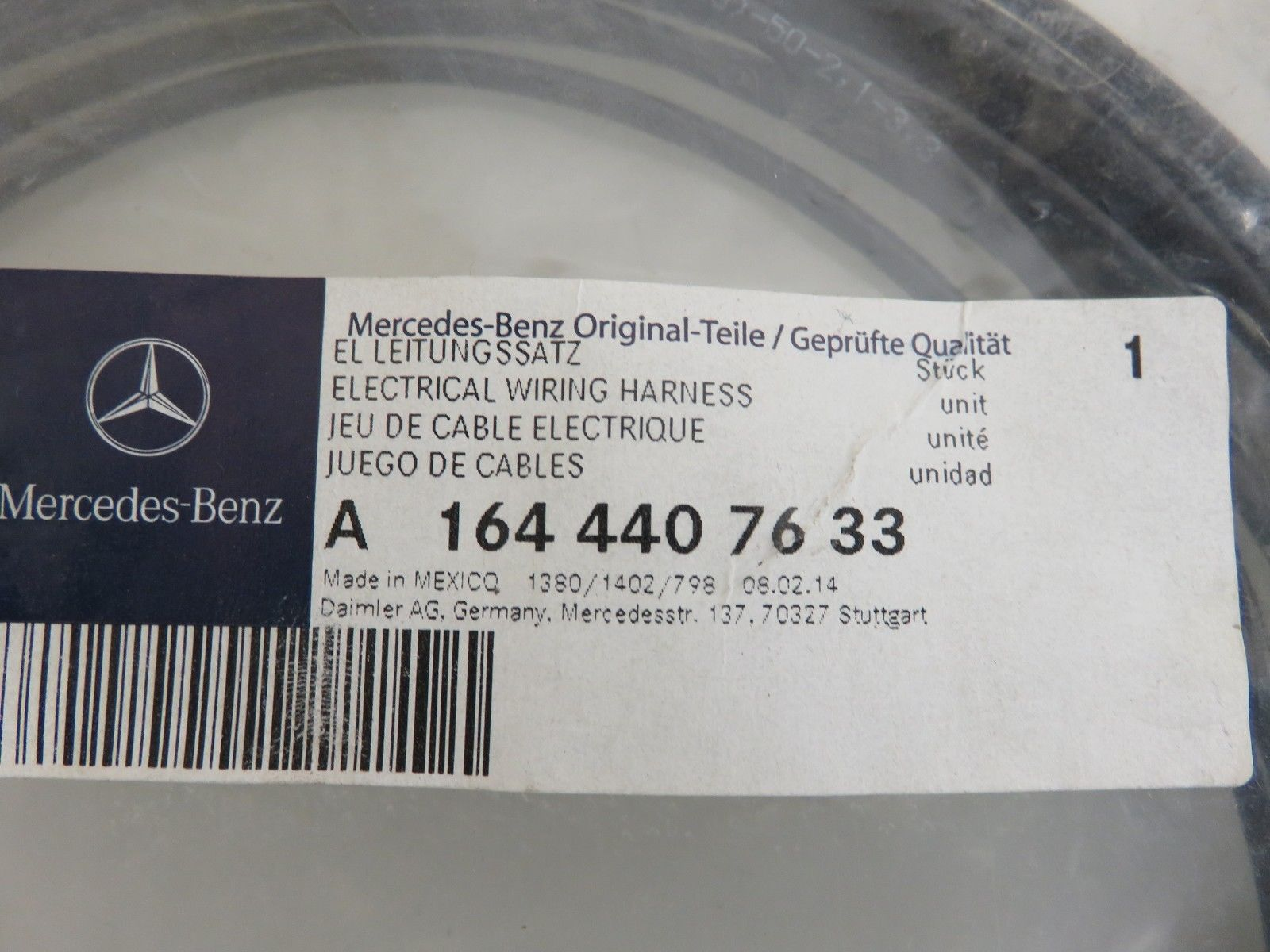 Genuine Mercedes Benz Oem Hella 2006 Mercedesbenz E500 Fuel Pump Wiring Harness New Emgenuine Em Emmercedes