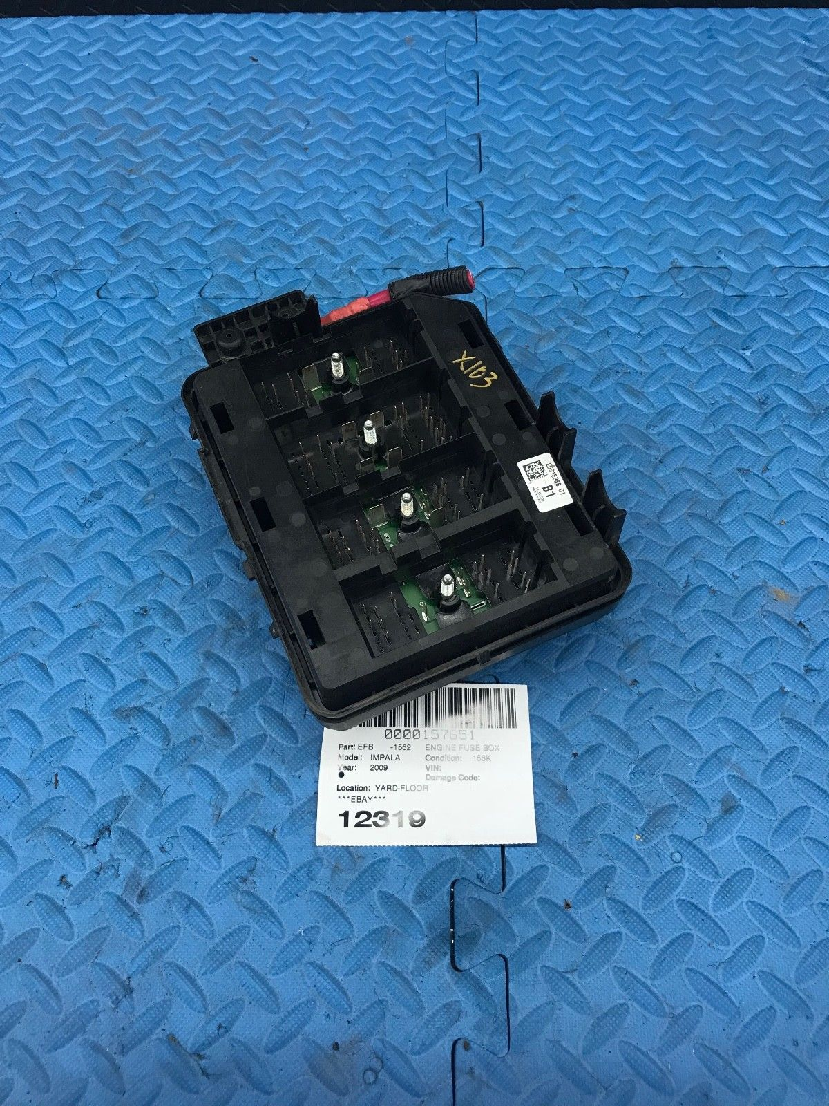 Gm Chevrolet Impala Wire Wiring Junction Fuse Block Relay Panel Box 2009 Chevy 25915388 Does Not Apply