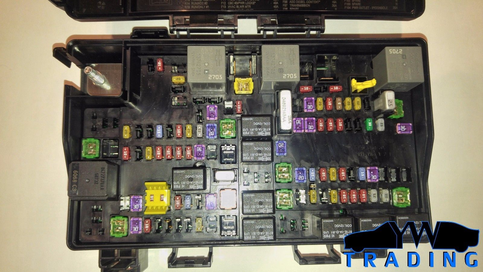 2015 2016 Oem Dodge Ram 1500 2500 Power Module Fuse Box 88 P68258527aa
