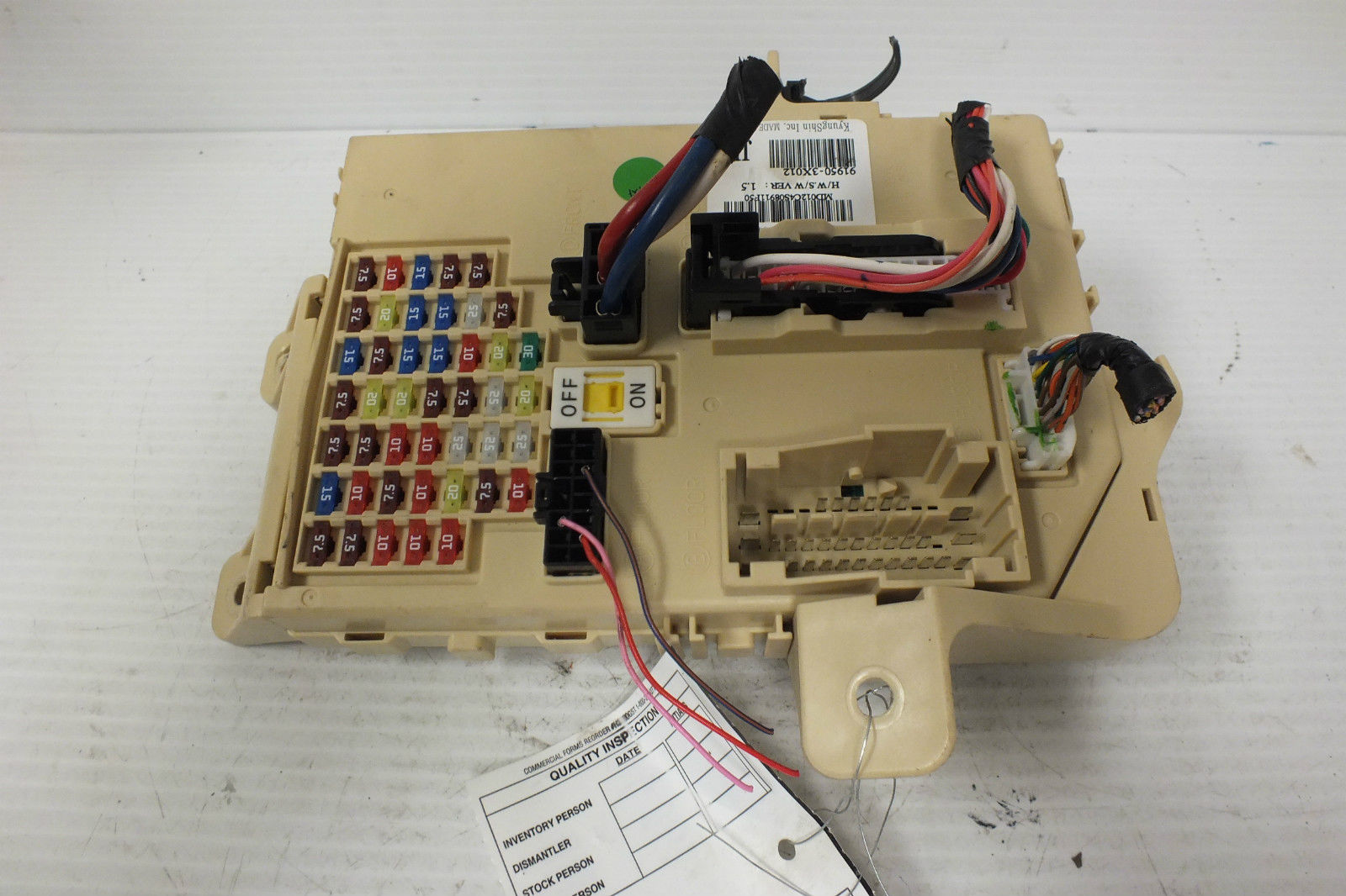 2013 Hyundai Elantra Fuse Box Free Wiring Diagram For You 2012 11 12 13 1 8l Junction Relay