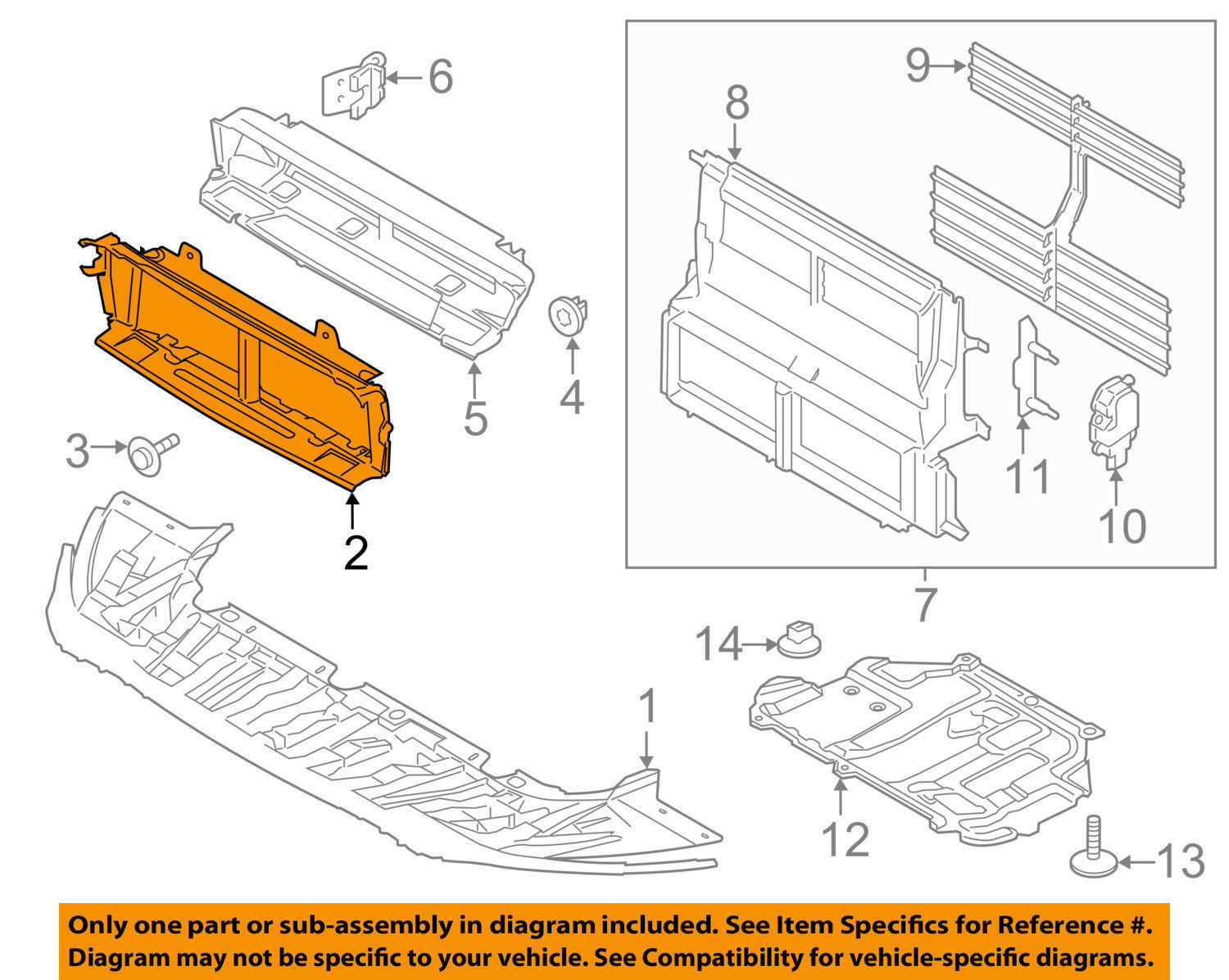 Air Deflector Page 6 Bel 57 Chevy Tailgate Diagram New Oem Ford Transit Connect Splash Shield Emair Em