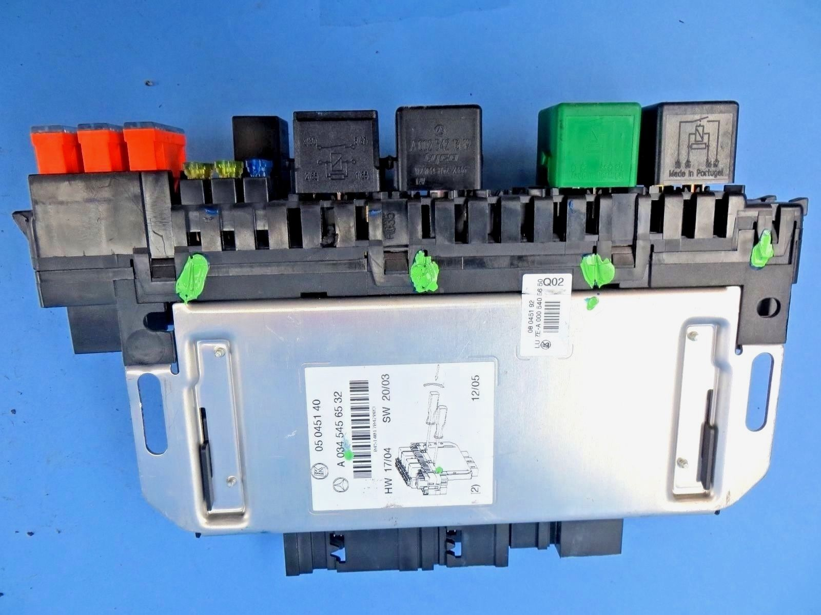 2001 2006 Mercedes Benz W220 S500 Front Right Fuse Box Sam Module Diagram Cl500 S430 S55